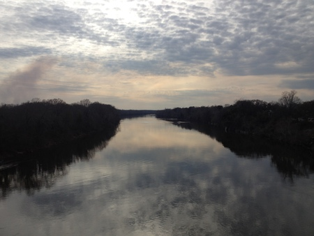 A Serene Moment - Looking off the bridge to the West in Selma