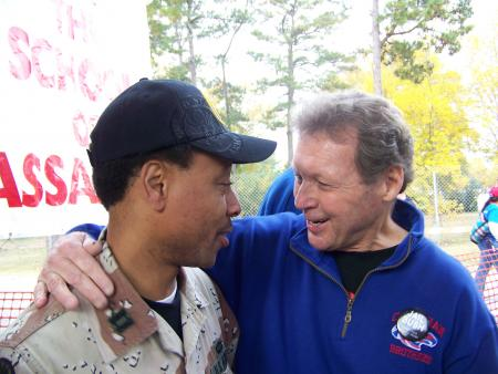 Fr. Roy w/ One of the Leaders of Veterans For Peace