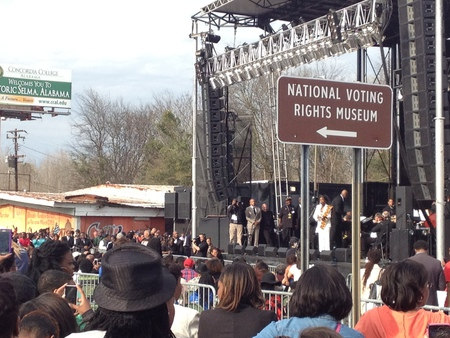 A concert in Selma  on the other side of the bridge