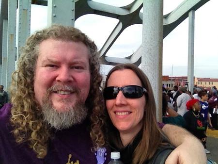Joe amp Lynn on the Bridge  Selma 2015